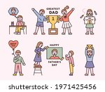 father's day. children are... | Shutterstock .eps vector #1971425456