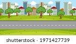 empty park landscape scene with ...   Shutterstock .eps vector #1971427739