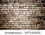 An Old Brick Wall With Loose...