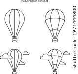 hot air balloon icon isolated... | Shutterstock .eps vector #1971444800