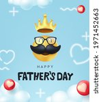 happy fathers day banner...   Shutterstock .eps vector #1971452663