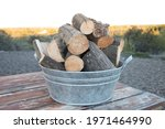 Stack Of Firewood Logs In A...