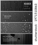 vector layout of headers ...   Shutterstock .eps vector #1971510863