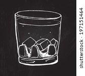 glass of whisky. vector...   Shutterstock .eps vector #197151464