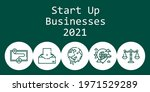 start up businesses 2021...   Shutterstock .eps vector #1971529289