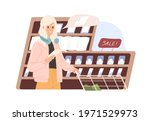 conscious woman keeping to...   Shutterstock .eps vector #1971529973