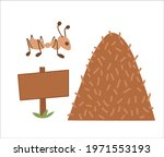 Vector Anthill Icon. Ant House...