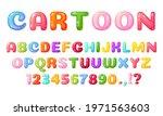 cartoon kids font. colorful... | Shutterstock .eps vector #1971563603