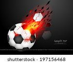 football blast with lighting... | Shutterstock .eps vector #197156468