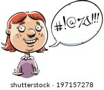 a cartoon little girl  swearing ... | Shutterstock .eps vector #197157278