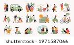 ecology set with alternative... | Shutterstock .eps vector #1971587066