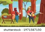 logging industry lumberjacks... | Shutterstock .eps vector #1971587150