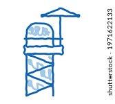 Rescue Tower Sketch Icon Vector....
