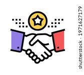 deal bonus color icon vector....   Shutterstock .eps vector #1971627179
