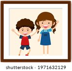 cartoon character of boy and... | Shutterstock .eps vector #1971632129
