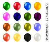 big set of colorful balloons   Shutterstock . vector #1971638870