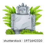 cartoon vector stone sign board ...