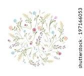 spring floral frame for your... | Shutterstock .eps vector #197166053