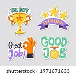 collection of reward stickers... | Shutterstock .eps vector #1971671633