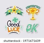 collection of achievement... | Shutterstock .eps vector #1971671639