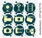 camera  digital camera  tripod  ... | Shutterstock .eps vector #1971672770