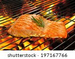 Grilled Salmon On The Flaming...