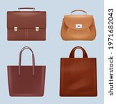 leather bags. vintage business... | Shutterstock .eps vector #1971682043