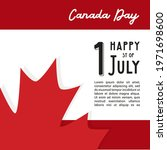 happy canada day poster. 1st... | Shutterstock .eps vector #1971698600
