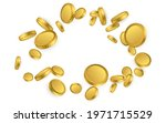 realistic gold coins explosion... | Shutterstock .eps vector #1971715529