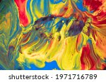 Multicolored Paints Create A...