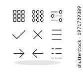 set of menu icons in flat style....
