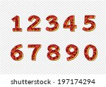 numbers set. illustration | Shutterstock .eps vector #197174294