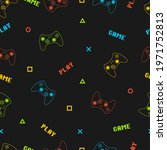 joystick gamepad seamless... | Shutterstock .eps vector #1971752813