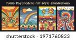 1960s psychedelic art style...   Shutterstock .eps vector #1971760823