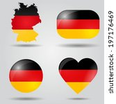 Germany Flag Set In Map  Oval ...