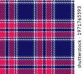 red  white and blue tartan...   Shutterstock .eps vector #1971765593