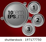 infographic elements on red... | Shutterstock .eps vector #197177750