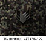 military black glossy sergeant... | Shutterstock .eps vector #1971781400