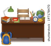 vector pupil table | Shutterstock .eps vector #197178470