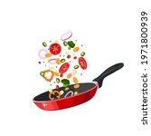 food preparation. sliced... | Shutterstock .eps vector #1971800939