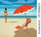 digital illustration girl in...   Shutterstock .eps vector #1971808670