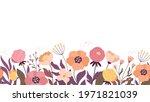 floral horizontal background....   Shutterstock .eps vector #1971821039
