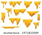 honey drippings on white... | Shutterstock .eps vector #1971823589