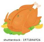 whole stuffed fried  roasted...   Shutterstock .eps vector #1971846926