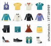 clothing icons | Shutterstock .eps vector #197184989