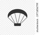transparent paragliding icon...