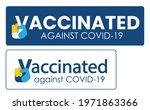 vaccination badge or sticker... | Shutterstock .eps vector #1971863366