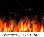 fire background. burning flame... | Shutterstock .eps vector #1971885020