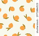seamless pattern of peach ...   Shutterstock .eps vector #1971886523