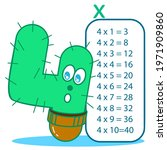 multiplication table with funny ...   Shutterstock .eps vector #1971909860